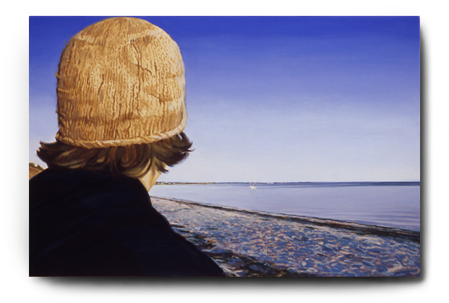 Zach Looking Out To Sea, acrylic on canvas by Tom Hébert